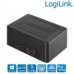 Logilink QP0028 - Docking Station USB 3.1 Gen2 DualSATA, Clon función
