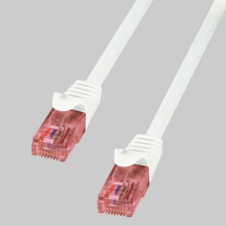 Logilink CQ2021U - Cable de red Cat.6 U/UTP Cobre LSHZ Blanco de 0.5m