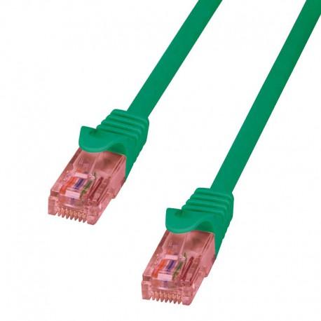 Logilink CQ2025U - Cable de red Cat. 6 U/UTP Cobre LSZH Verde de 0.5m