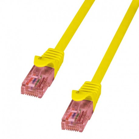 Logilink CQ2037U - Cable de red Cat.6 U/UTP Cobre LSHZ Amarillo de 1m