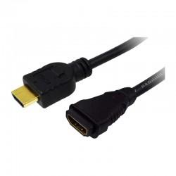 1m Cable Alargo HDMI Alta Velocidad con Ethernet Logilink CH0059