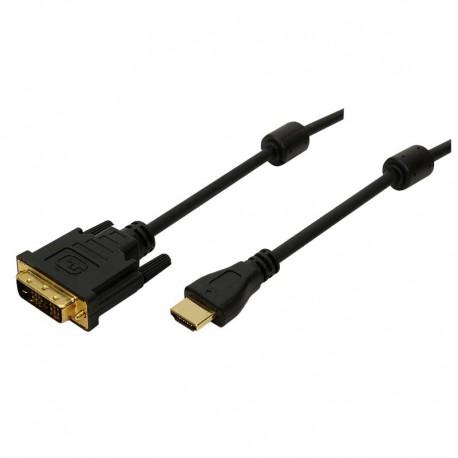 Logilink CH0013 - 3m Cable HDMI a DVI-D 18+1 Negro | Marlex Conexion