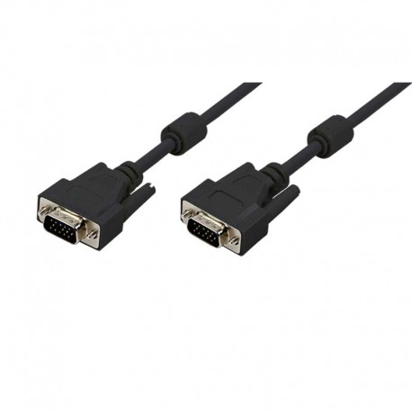 Logilink CV0002 - 3m Cable SVGA + Ferrita Macho-Macho Negro | Marlex Conexion
