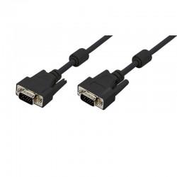 5m Cable SVGA + Ferrita Macho-Macho Negro