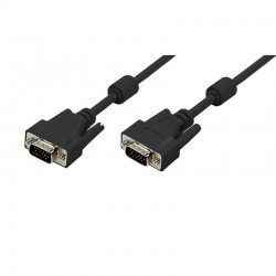 15m Cable SVGA + Ferrita Macho-Macho Negro