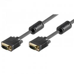 30m Cable SVGA con Ferrita Macho-Macho Negro