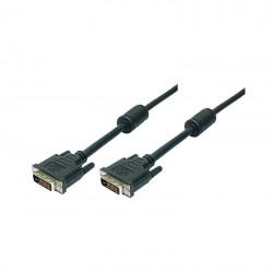 2m Cable DVI-D 24+1 con Doble Ferrita Macho-Macho Negro Logilink CD0001