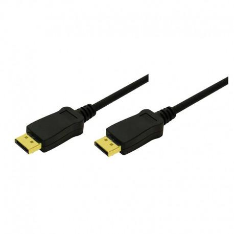 Logilink CV0031 - 3m Cable DisplayPort 1.1 Negro | Marlex Conexion