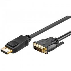 Logilink CV0132 - 3m Cable DisplayPort 1.2 a DVI-D (24+1), Negro | Marlex Conexion