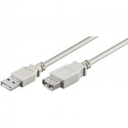 1,8m Cable USB 2.0 A-A Macho-Hembra Beige Logilink CU0010