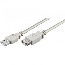 2m Cable USB 2.0 A-A Macho-Hembra Gris Logilink CU0010