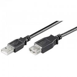 2m Cable USB 2.0 A-A Macho-Hembra Negro Logilink CU0010B