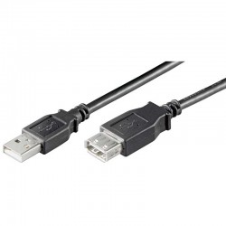 3m Cable USB 2.0 A-A Macho-Hembra Negro