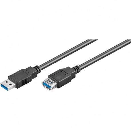 Logilink CU0042 - 2m Cable USB 3.0 A- A Macho - Hembra Negro | Marlex Conexion