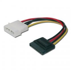 0,15m Cable / Adaptador Alimentacion Molex a SATA