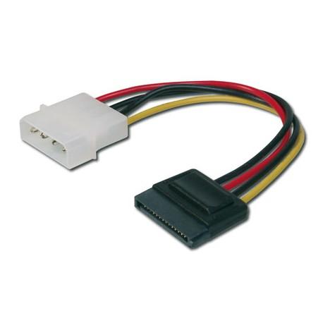 Logilink CS0003 - 0,15m Cable / Adaptador Alimentación Molex a SATA
