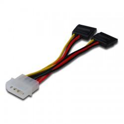 Logilink CS0007 - 0,15m Cable / Adaptador Alimentacion Molex a 2 SATA