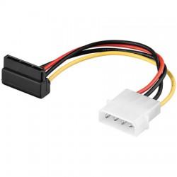 0,15m Cable / Adapt Aliment Molex a SATA Acodado
