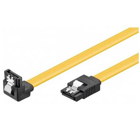 0,5m Cable Datos SATA 3 (6Gbs) Acodado | Marlex Conexion