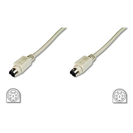 2m Cable Teclado-Raton PS/2 MD6 Macho-MD6 Macho | Marlex Conexion