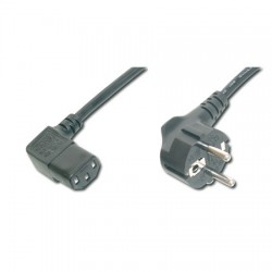 2m Cable de Alimentación CPU-RED Acodados Negro Logilink CP103