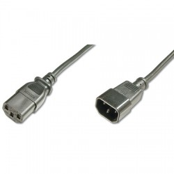 Logilink CP110 - 3m Cable de Alimentación CPU-MONITOR Negro | Marlex Conexion
