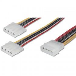 Logilink CP0001 - 20cm Cable de Alimentacion Molex 1 Macho a 2 Hembra