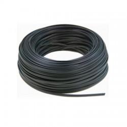 100m Bobina Cable Telefónico plano 4 hilos Negro