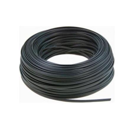 Logilink CM04 - 100m Bobina Cable Telefónico plano 4 hilos Negro