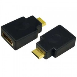 Adaptador Mini HDMI C Macho a HDMI A Hembra