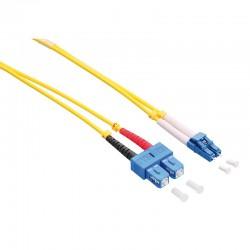 1m Cable Fibra Optica OS2 LC-SC 9/125 MonoModo