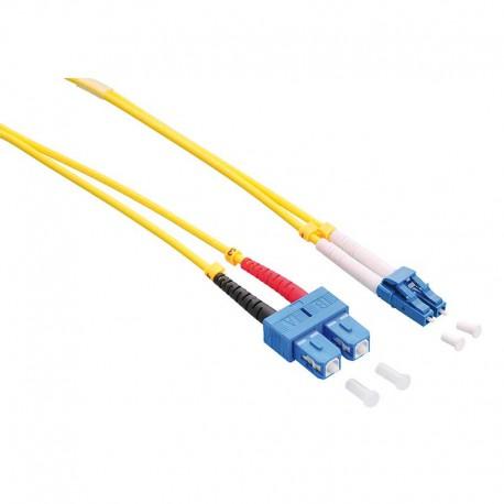 Logilink FP0LS01 - 1m Cable Fibra Óptica OS2 LC-SC 9/125 MonoModo Duplex