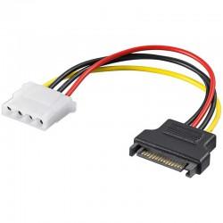 0,17m Cable / Adaptador Alimentacion SATA a Molex