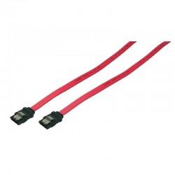 0,5m Cable Datos SATA 3 (6Gbs) con Clip Metálico