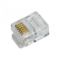 Conector Telefónico RJ12 6/6 (Bolsa 100 pcs)