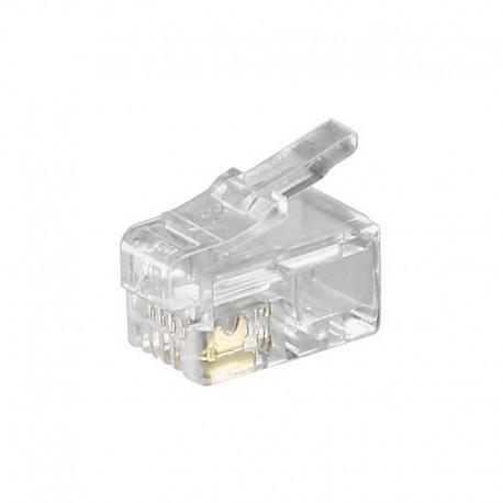 Logilink MP0017 - Conector Telefónico RJ10 4/4 (Bolsa 100 pcs)