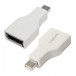 Adaptador Mini DisplayPort Macho-DisplayPort Hembra Logilink CV0039