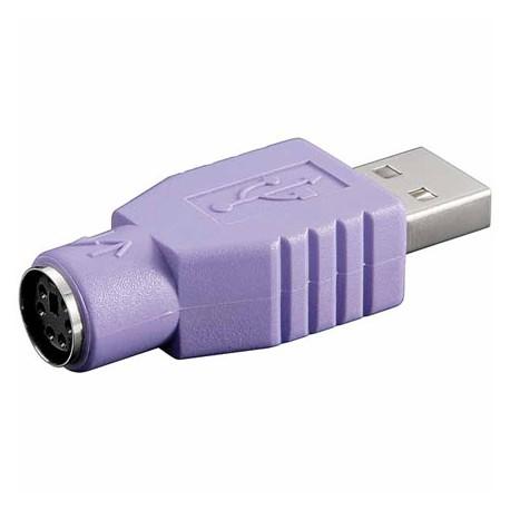 Adaptador USB A Macho a PS/2 Hembra |Marlex Conexion