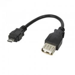 Cable Adapt Micro USB B Macho a USB 2.0 A Hembra Logilink AU0030