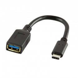 Logilink CU0098 - Cable Adaptador USB 3.1 Tipo C Macho a A Hembra | Marlex Conexion