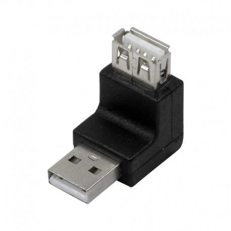 Logilink AU0027 - Adaptador USB 2.0 A Macho-Hembra Acodado 270º | Marlex Conexion