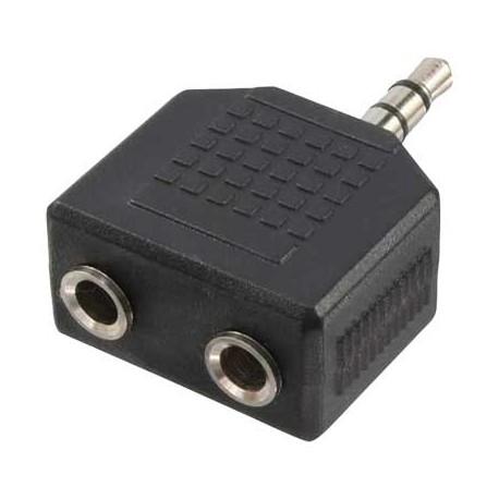 Logilink CA1002 - Adaptador Jack 3,5 M a 2 Jack 3,5 H Stereo Compacto | Marlex Conexion