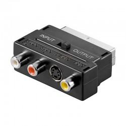 Adaptador de Euroconector a 3 RCA + S-VHS (I/O)