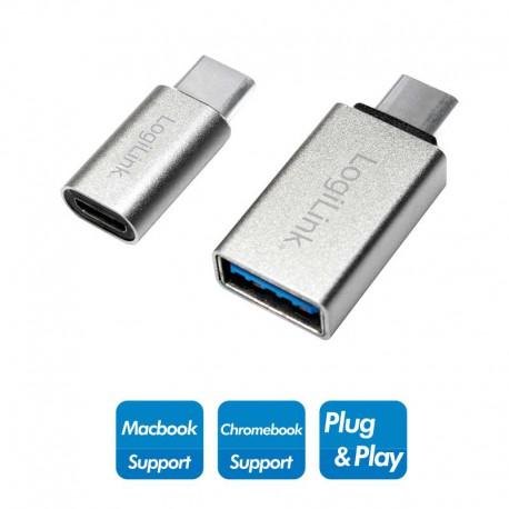 Logilink AU0040 - Adaptador USB 3.1 Tipo C a USB 3.0 y Micro USB Hembra | Marlex Conexion