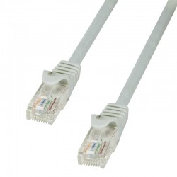 Logilink CP1022U - Cable de red Cat. 5e U/UTP CCA Gris de 0.5m
