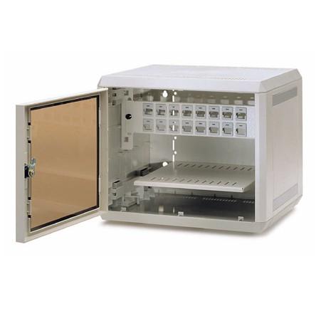 """Armario Rack 10"""" MiniNet 5U ( Bandeja y Panel Vacio de 16puertos)"""