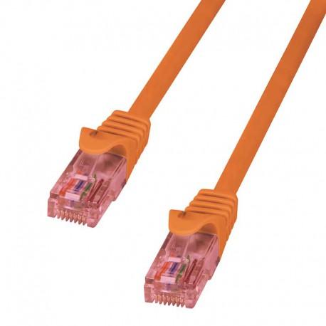 Logilink CQ2028U - Cable de red Cat.6 U/UTP Cobre LSHZ Naranja de 0.5m
