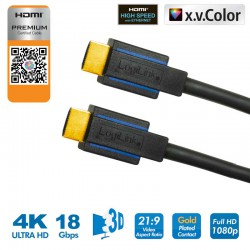 7.5m Cable HDMI 2.0 Premium HQ 4K Certificado Logilink CHB007