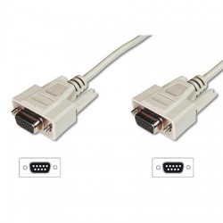 5m Cable NULL MODEM DB9H - DB9H | Marlex Conexion