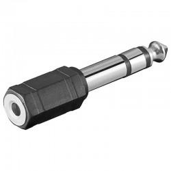 Adaptador de Audio Estereo Jack 6,35 Macho a 3,5 Hembra | Marlex Conexion